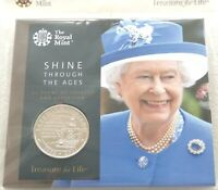 2017 ROYAL MINT QUEENS SAPPHIRE JUBILEE 5 FIVE POUND COIN PA