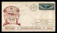 DR WHO 1939 NEW YORK TO IRELAND FIRST FLIGHT FAM 18 AIR MAIL