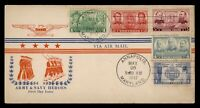 DR WHO 1937 FDC ARMY/NAVY HEROES CACHET COMBO ANNAPOLIS MD 7
