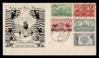 DR WHO 1937 FDC ARMY/NAVY HEROES WALKER CACHET COMBO ANNAPOL