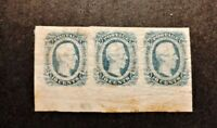 CONFEDERATE STATES OF AMERICA  12 MINT HINGED STRIP OF THREE