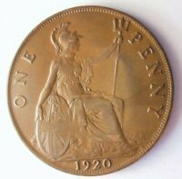 1920 GREAT BRITAIN PENNY   AU   GREAT QUALITY COIN   LOT A10