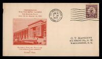 DR WHO 1932 FDC OLYMPICS SPORTS LOS ANGELES CACHET  F34224