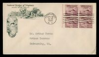 DR WHO 1933 FDC PROCLAMATION OF PEACE ANIV BLOCK NATURAL BRI