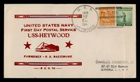 DR WHO 1941 USS HEYWOOD NAVY SHIP FIRST DAY POSTAL SERVICE P