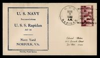 DR WHO 1940 USS RAPIDAN NAVY SHIP RECOMMISSIONED C204573