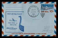DR WHO 1961 NEW YORK NY TO ICELAND FIRST FLIGHT AIR MAIL AER