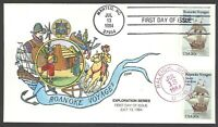 2093 ROANOKE VOYAGES COLLINS FDC