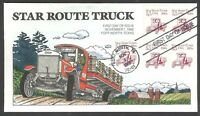 2125 STAR ROUTE TRUCK COLLINS FDC