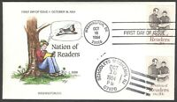 2106 NATION OF READERS COLLINS FDC