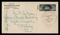 DR WHO 1927 YOUNGSTOWN OH FIRST FLIGHT AIR MAIL PLATE  C2046