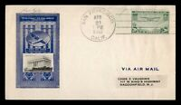 DR WHO 1937 FIRST FLIGHT SAN FRANCISCO CA TO HAWAII FDC AIRM