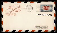 DR WHO 1938 FDC 6C AIRMAIL ST PETERSBURG FL NAMW AIRMAIL WEE