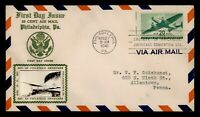 DR WHO 1941 FDC 20C AIRMAIL CROSBY CACHET SPA CONVENTION STA
