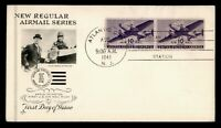 DR WHO 1941 FDC 10C AIRMAIL PAIR ARTCRAFT CACHET  F36139