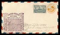 DR WHO 1938 BALTIMORE MD TO BERMUDA FIRST FLIGHT AIR MAIL FA