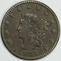1828 1C CORONET OR MATRON HEAD LARGE CENT