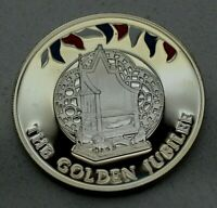 2002 FALKLAND ISLANDS 50 PENCE  CROWN  GOLDEN JUBILEE PROOF SILVER COIN