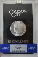 GEM 1885-CC GSA HOARD MORGAN CARSON CITY SILVER DOLLAR NGC MINT STATE 65 $1 BOX & COA