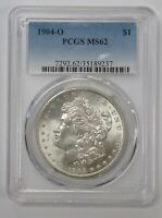 1904-O MORGAN SILVER DOLLAR PCGS MINT STATE 62 VAM 12A DENTICLE BELOW WING