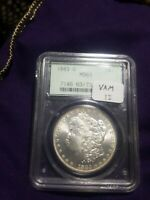 MINT STATE 63 1883-O MORGAN SILVER DOLLAR OGH  PCGS VAM 1I  DOT AT ARROWS END