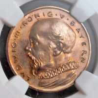 1913 BAVARIA LUDWIG III. PROOF BRONZE PATTERN 20 MARK COIN. PROBE  NGC PF 64