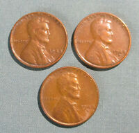 1948 P, 1948-D, 1948-S LINCOLN PENNIES - 3 U.S. 1 CENT PENNY PDS