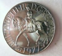 1977 GREAT BRITAIN CROWN   SILVER JUBILEE   AU/UNC COIN   LO
