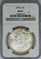 1898-O NGC SILVER MORGAN DOLLAR MINT STATE UNC MINT STATE 64