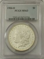 1904 O MINT STATE 63 MORGAN SILVER DOLLAR S$1 PCGS CERTIFIED TONING