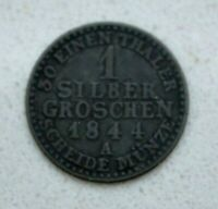 OLD 1844 GERMAN STATES GERMANY PRUSSIA SILVER SILBER GROSCHEN COIN  NICE