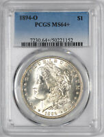 1894-O MORGAN SILVER DOLLAR BETTER DATE $1 - PCGS MINT STATE 64 PLUS GRADED -