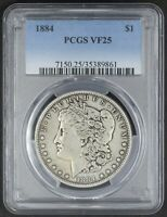 1884 MORGAN DOLLAR PCGS VF25