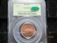 1865 2 CENT PIECE  MS 65 RB  PCGS & CAC & OGH   SO PERFEECT AND ALMOST ALL RED