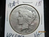 1928 P PEACE DOLLAR  THE KEY DATE  UNSLABBED  VG CONDITION