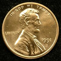 1991 D UNCIRCULATED LINCOLN MEMORIAL CENT BU C03