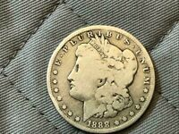 1888 0 MORGAN SILVER DOLLAR -   FINE CONDITION -129 YEARS OLD   ITEM  32