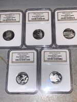ALL 5 2008 SILVER STATE QUARTER SET GRADED PROOF 69 ULTRA CA