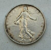 OLD FRANCE FRENCH REPUBLIC 1964 SILVER 5 FRANC COIN  SOWER SEMEUSE NICE