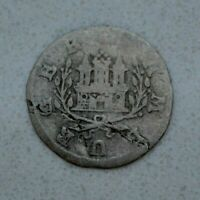 OLD 1726 GERMAN STATES GERMANY HAMBURG SILVER 1 SCHILLING COIN  NICE