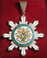 1912 CHINA  REPUBLIC . ORDER OF THE GOLDEN GRAIN   . 3RD CLASS NECK BADGE. R