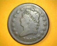 1810 CLASSIC HEAD LARGE CENT; S-285; R-2; G
