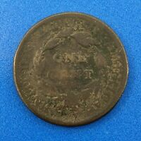 1810/09 CLASSIC HEAD LARGE COPPER CENT COLONIAL UNITED STATES  OVER DATE