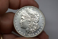 1878-S MORGAN DOLLAR- SUPERB DETAILS/ LUSTER- CLEANED.   FROM LOCAL AUCTION
