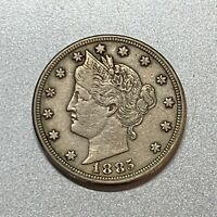 1885 LIBERTY V NICKEL    CHOICE VF / EXTRA FINE    KEY DATE