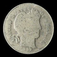 1899-P BARBER 90 SILVER DIME SHIPS FREE. BUY 5 FOR $2 OFF