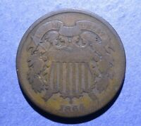 1864 LM TWO CENT GOOD
