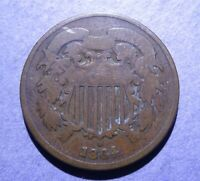 1864 LM TWO CENT GOOD-