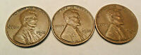 1945 P D S LINCOLN WHEAT CENT / PENNY SET FINE OR BETTER  SHIPS FREE
