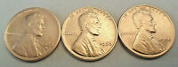1950 P D S LINCOLN WHEAT CENT / PENNY COIN SET  FINE OR BETTER SHIPS FREE